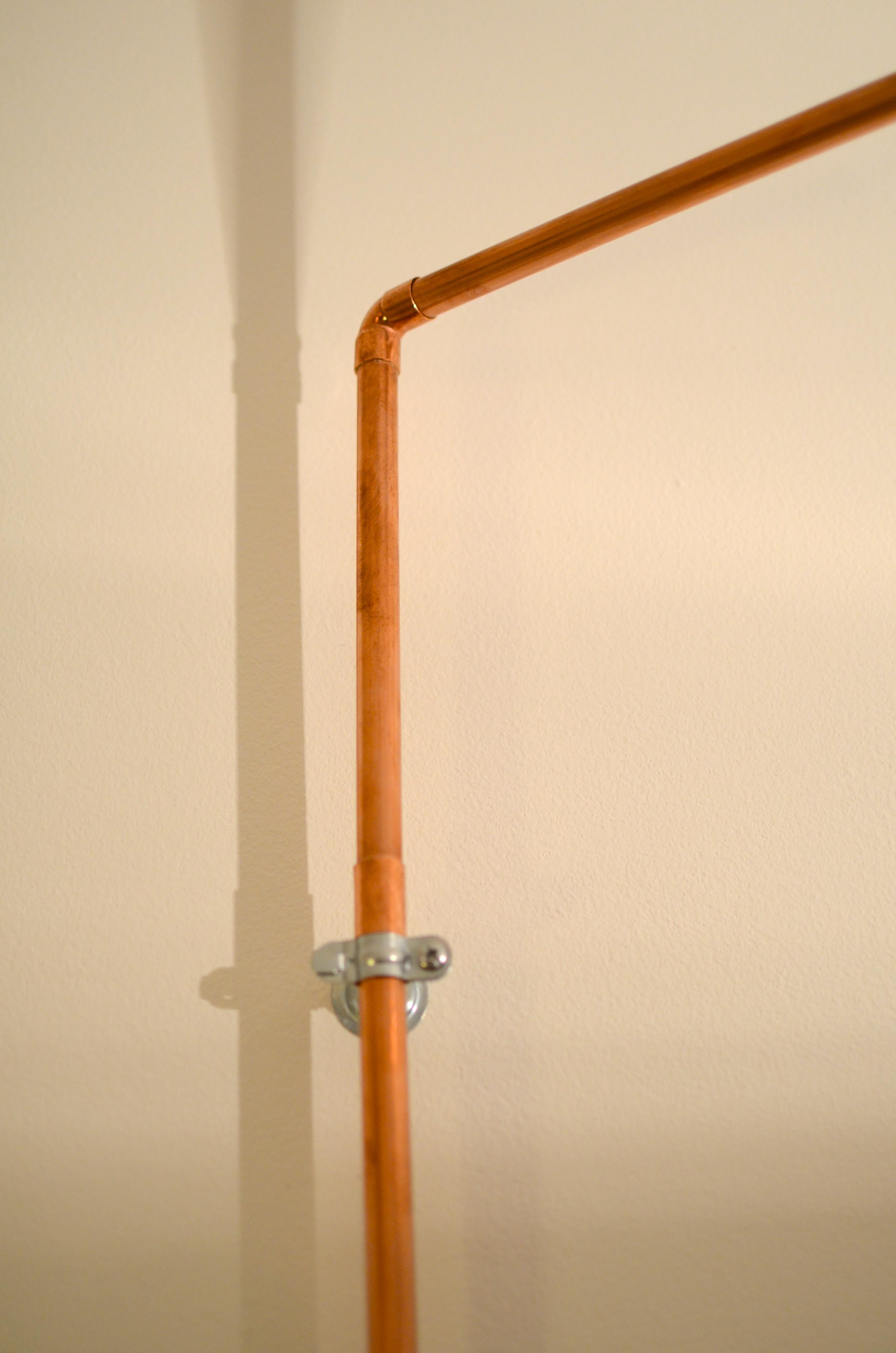 une lampe potence en cuivre diy 13 bienvenue chez coline. Black Bedroom Furniture Sets. Home Design Ideas