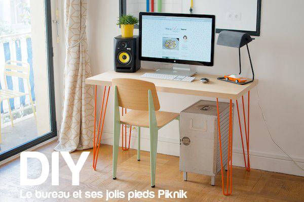 Le bureau et ses jolis pieds piknik diy 35 bienvenue for Meuble a jeter montreal