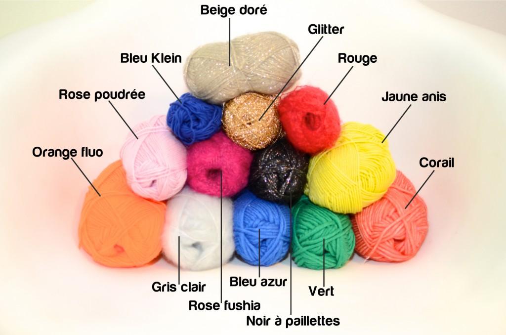 collier pompons concours choix coloris