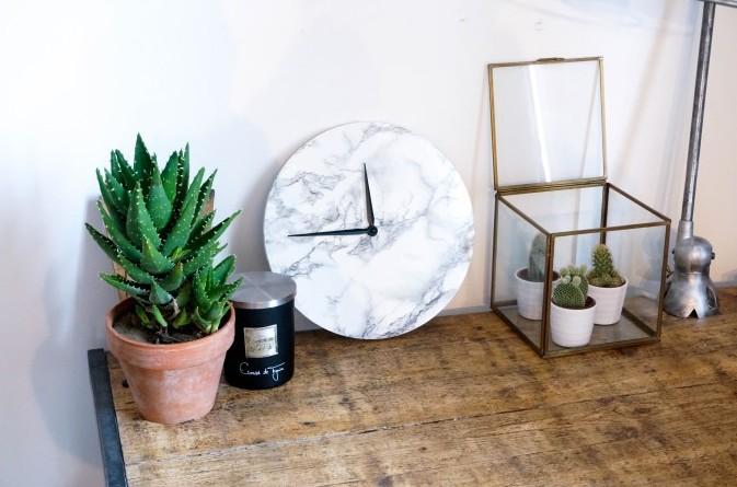 horloge marble