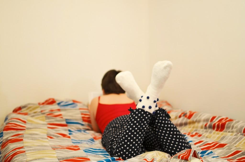 mes chaussettes blanches à petits pois (6)