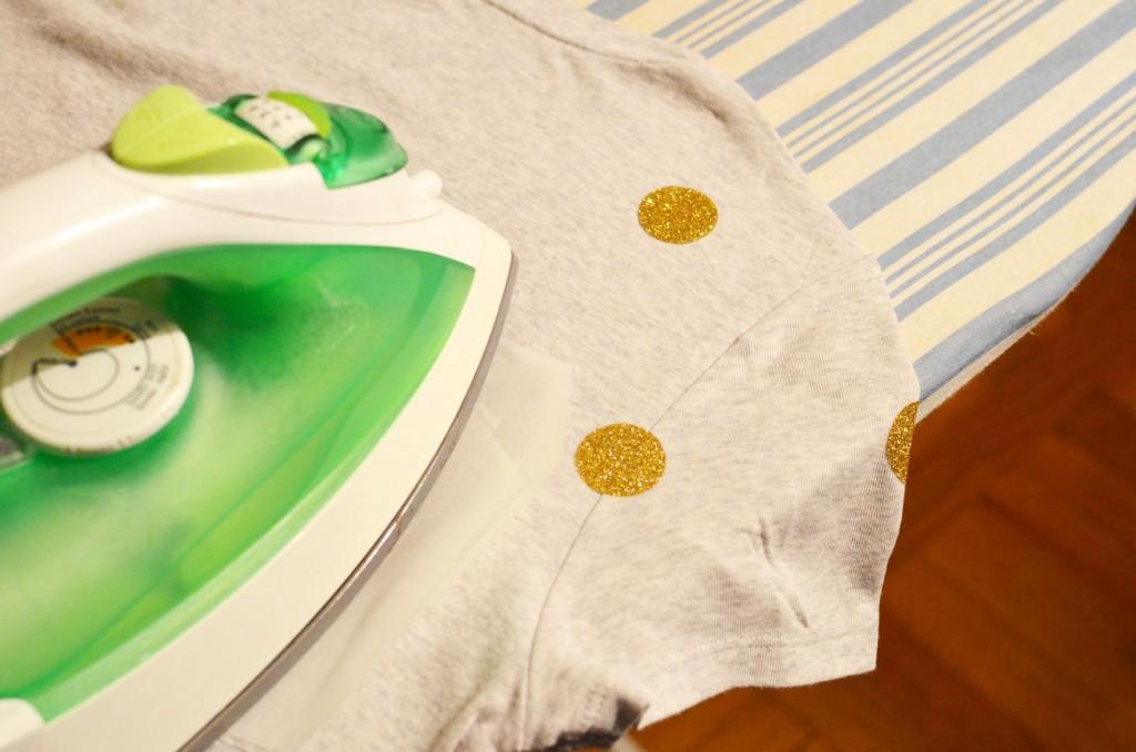 Tee-shirt à pois glitter et petit poisson japonais (10)