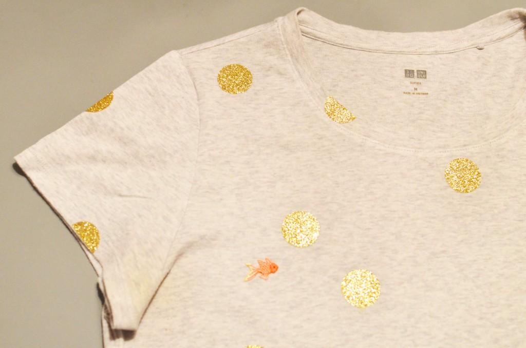 Tee-shirt à pois glitter et petit poisson japonais (11)