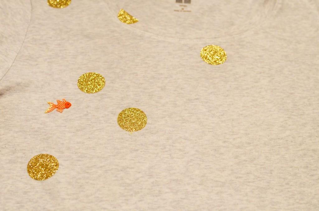 Tee-shirt à pois glitter et petit poisson japonais (13)