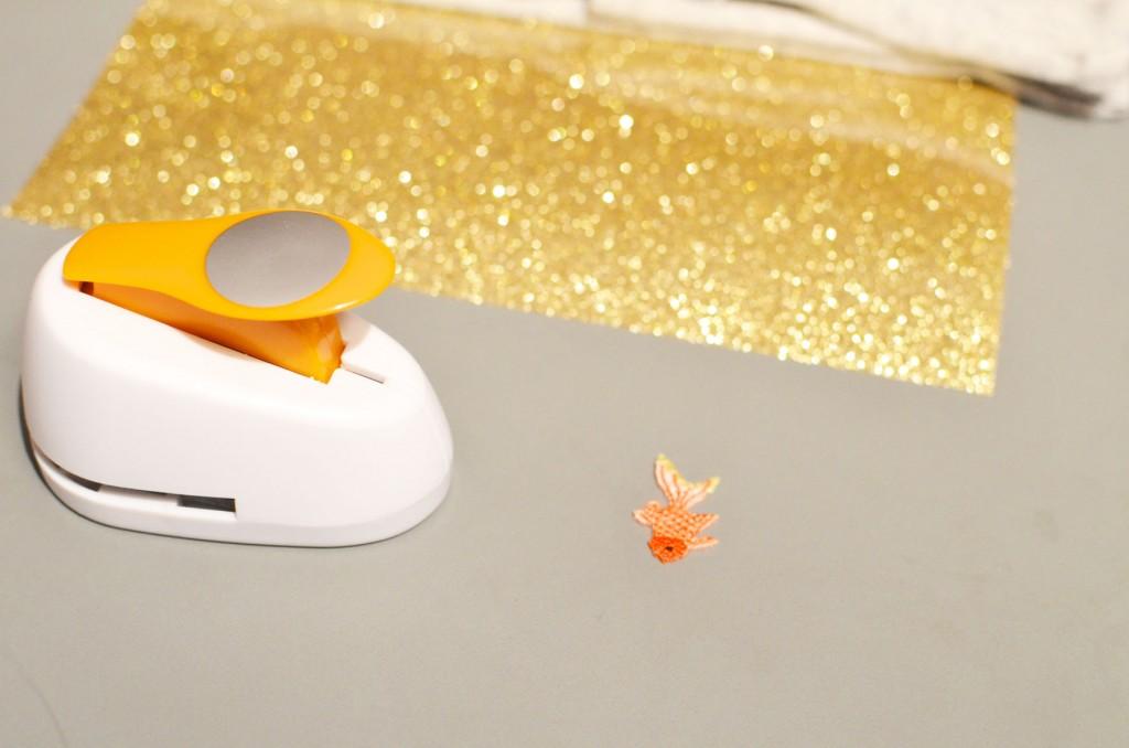 Tee-shirt à pois glitter et petit poisson japonais (2)