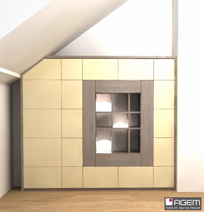 3D - LDE pour M. FEINGOLD bibliothèque pour un client -final (ID 7343)